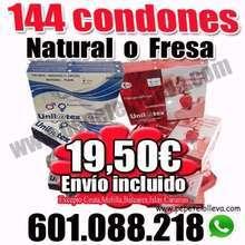 Oferta 144 preservativos naturales o fresa unilatex 19 50