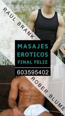 Masajes eroticos final feliz rober y raul masajistas erotic