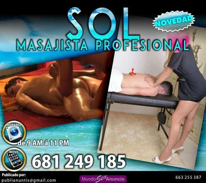 Sol masajista profesional en ciudad real