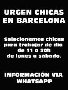 Casting seleccionamos chicas en barcelona