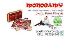Sexshop surco mongamy juego para parejas